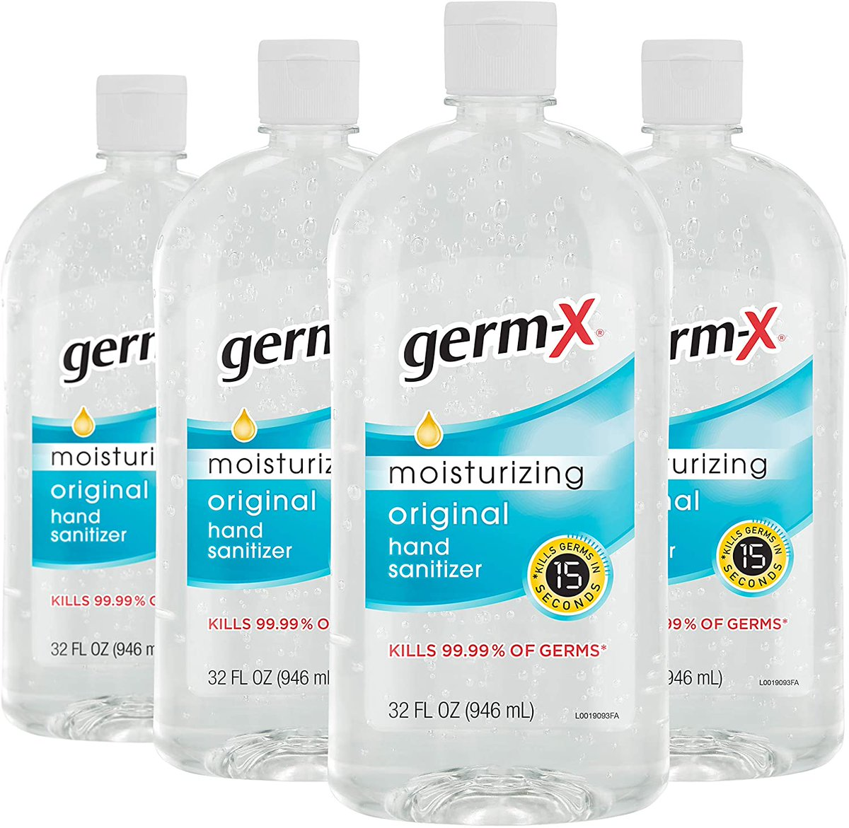 Germ-X Hand Sanitizer, Original, 32 Fluid Ounce (Pack of 4)  Only $17.99!
