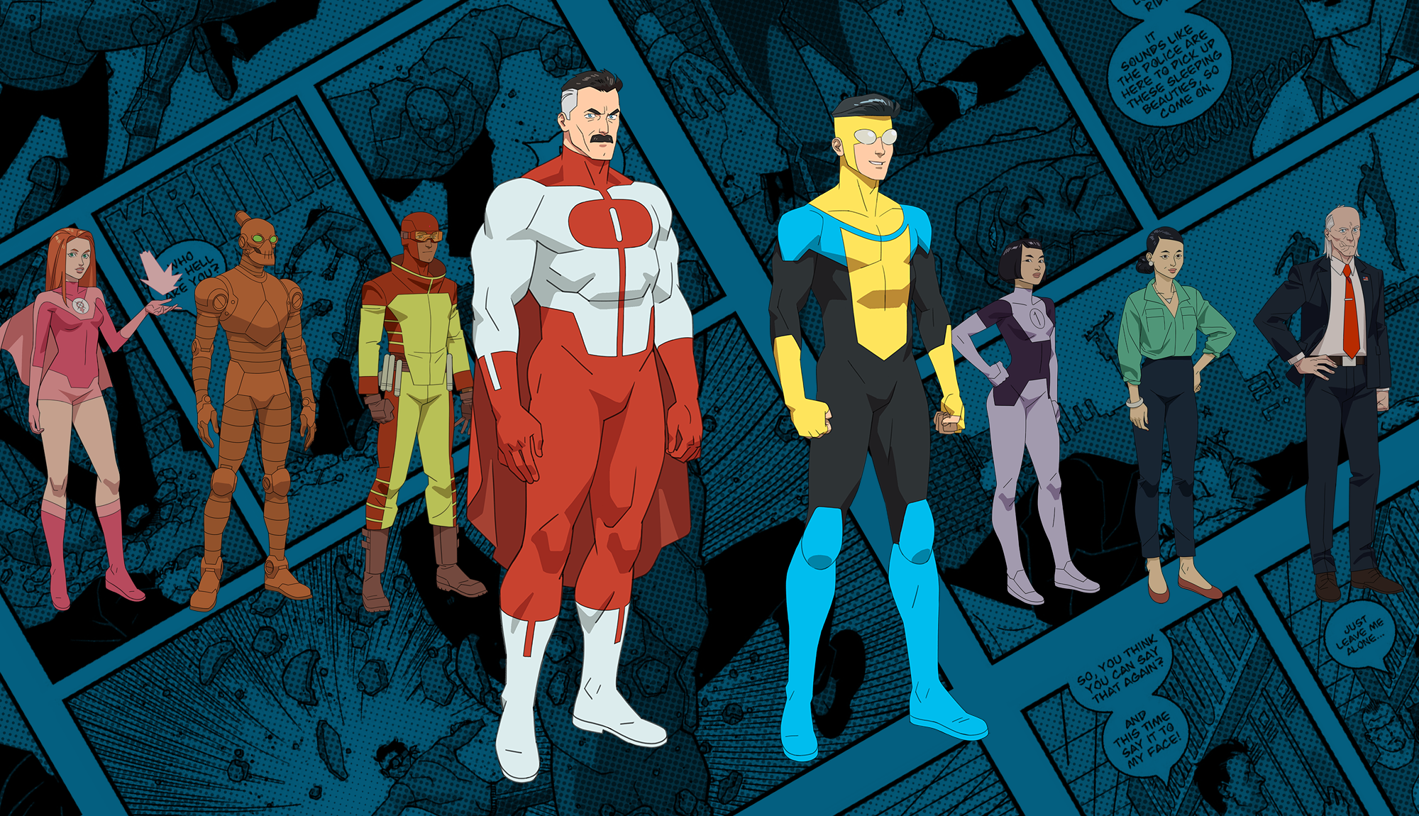 Cory Walker's character designs for INVINCIBLE animated series