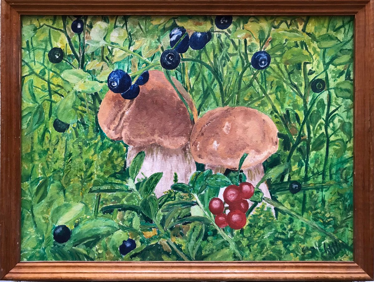 Excited to share this item from my #etsy shop: Original painting, Forest, Mushrooms, Oil painting, One of a kind https://etsy.me/3fDWsOK #thanks #mushrooms #forest #nature #stilllife #fruit #roomdecor #homedecor #framedpic.twitter.com/a5KYYip0xn