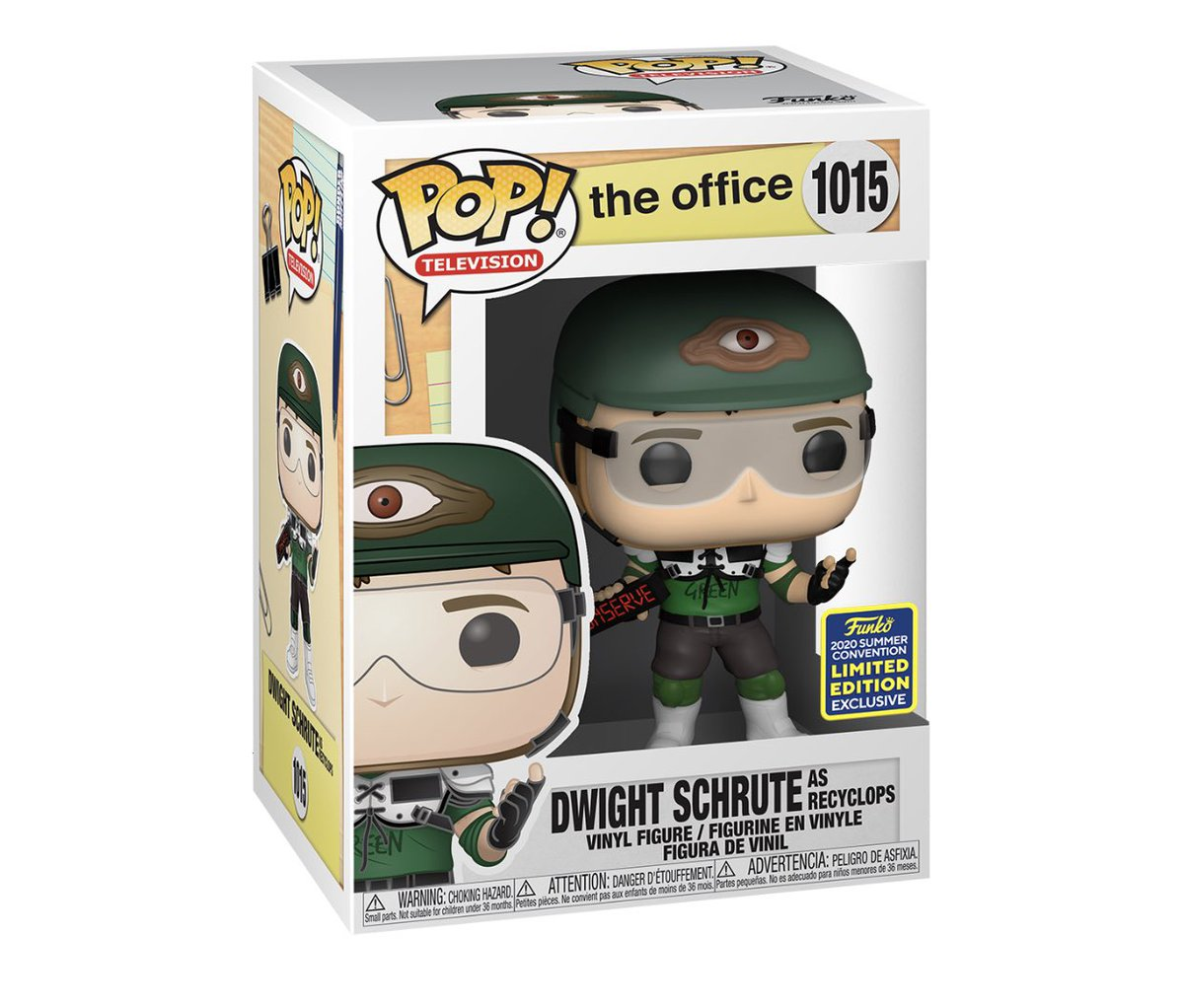 Restock: SDCC Shared exclusive Dwight as Recyclops! #SDCC #TheOffice #Funko #ad .