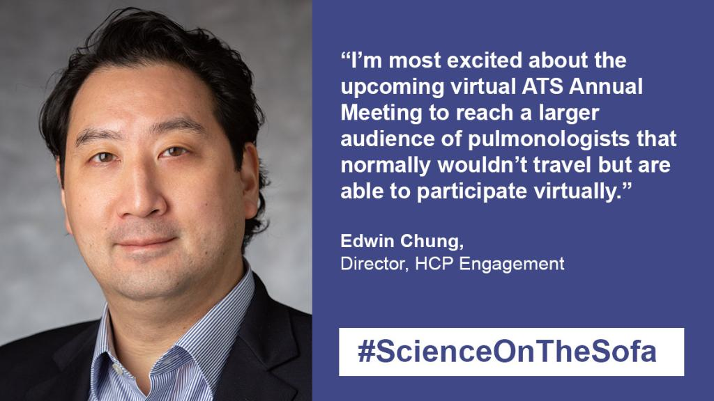 With this year's #ATS2020 going virtual, Edwin, our Director of HCP Engagement is looking forward to connecting with a larger group of #respiratory HCPs. Join us for #ScienceOnTheSofa all week. 👉 https://t.co/VAZVeymGiT https://t.co/9cCaOLhJvW