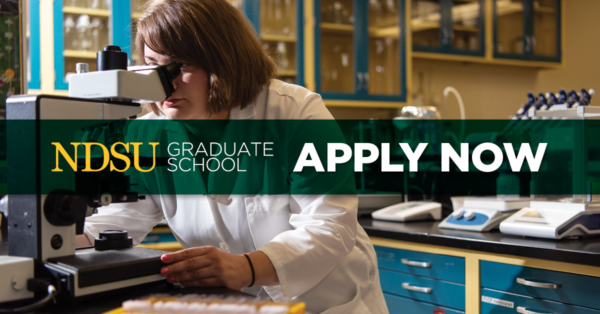 Explore a wide range of master's degrees, doctoral degrees and graduate certificate programs. Now is the time to advance your career at NDSU.  Complete your application today. https://t.co/LPaDZBIqRI  #ExperienceNDSU https://t.co/3W4UTpwxAX