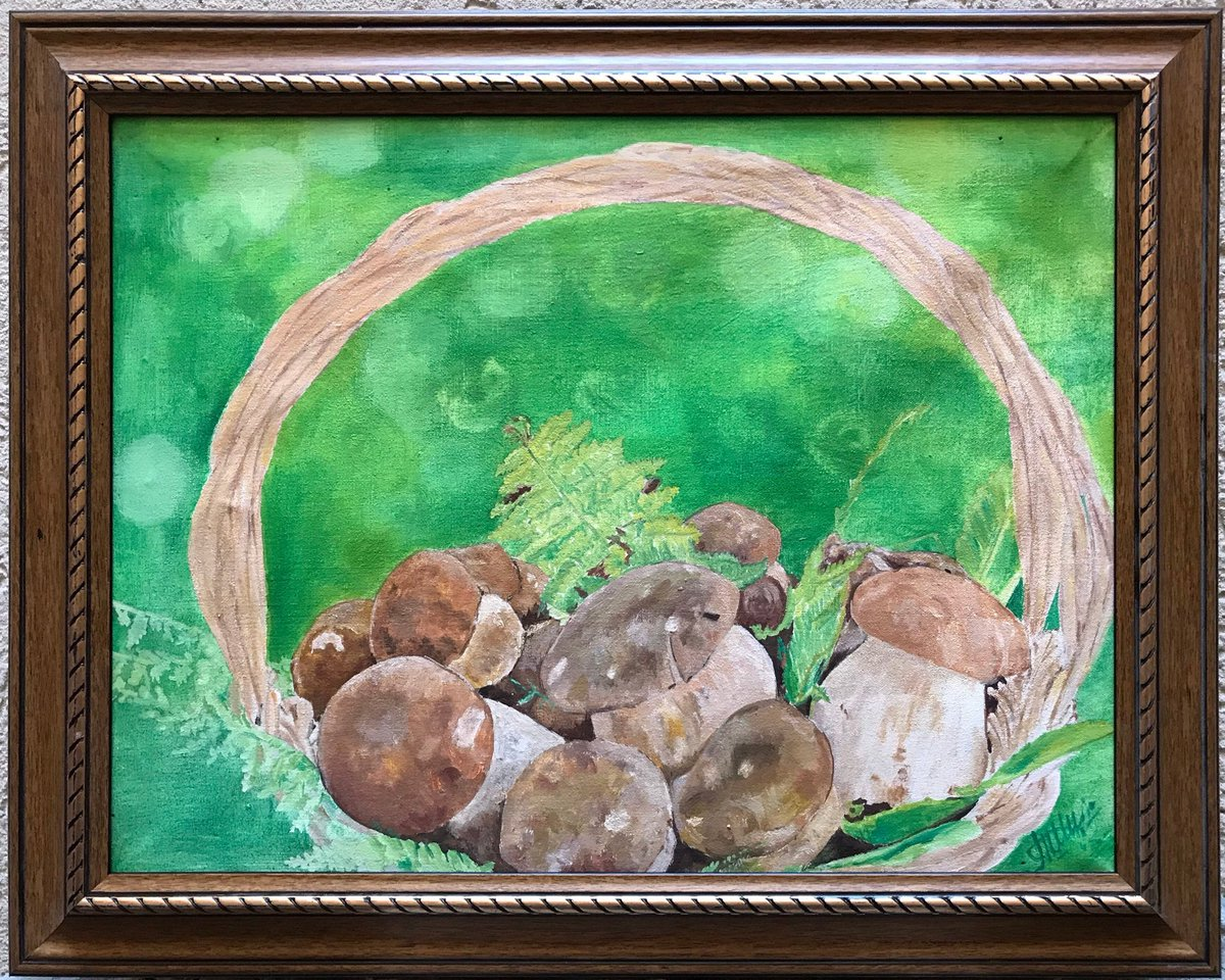 Excited to share this item from my #etsy shop: Original painting, Still life, Mushrooms, Oil painting, Framed, One of a kind https://etsy.me/3kjeGZw #mushrooms #stilllife #forest #artforsale #roomdecor #homedecor #kitchendecorpic.twitter.com/vvTF7wH0Id