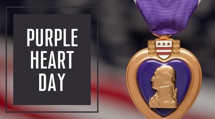 Today on Purple Heart Day, we take a moment to pause, honor, and show thanks to the brave men & women – including those here at the Soldiers' Home in Holyoke – who were either wounded on the battlefield or paid the ultimate sacrifice with their lives. 💜 https://t.co/JdpddcnBpc