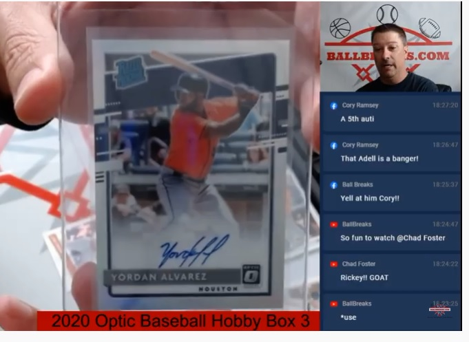We pulled FIVE (5) Autos from a @PaniniAmerica 2020 Optic Baseball Box last night!  What does #JohnnyPromo have up his sleeve for FIRE and #giveaways tonight?   See you at LIVE @ 7PM EST https://www.youtube.com/channel/UC4D2qvrXAQkJ4Umom-skF_A/videos … .  #WatchTheBreaks #LiveStream #ModernBreaks #VintageBreaks #MLB #NBApic.twitter.com/gjDt5hAZiP