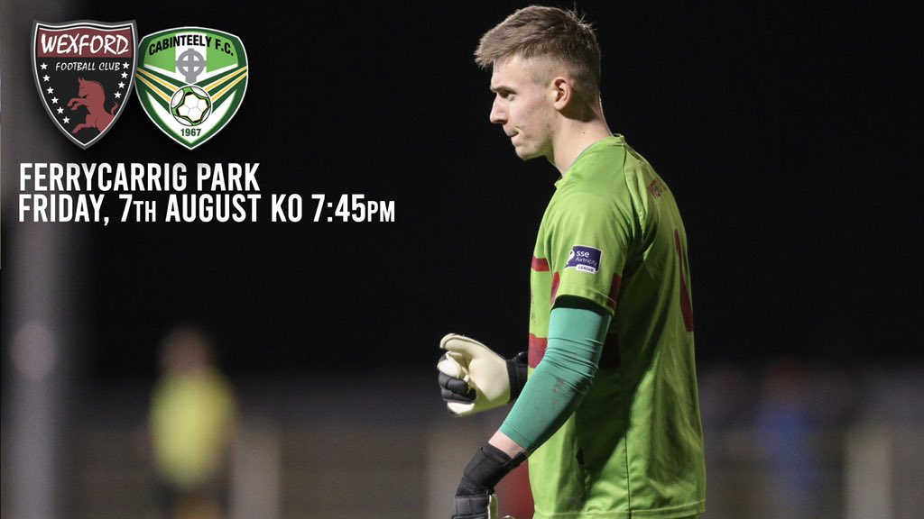 24 hours to go!   Our game vs @Cabinteely_FC is fully booked tomorrow but you can check out our livestream on  http://facebook.com/wexfordfc  from 7:45pm!pic.twitter.com/oQ7nfZH2em