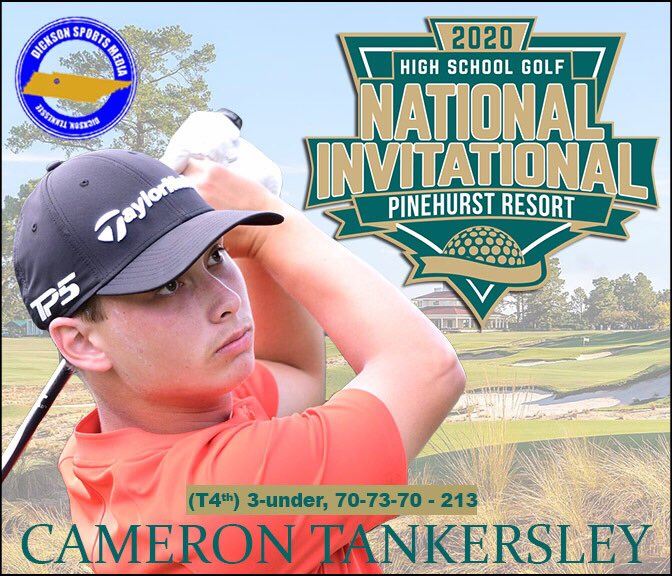 Huge shout out to Cam Tankersley on a strong finish at the High School Golf National Invitational! pic.twitter.com/msyknPue9f