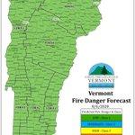 Image for the Tweet beginning: Forecasted fire danger for Thursday