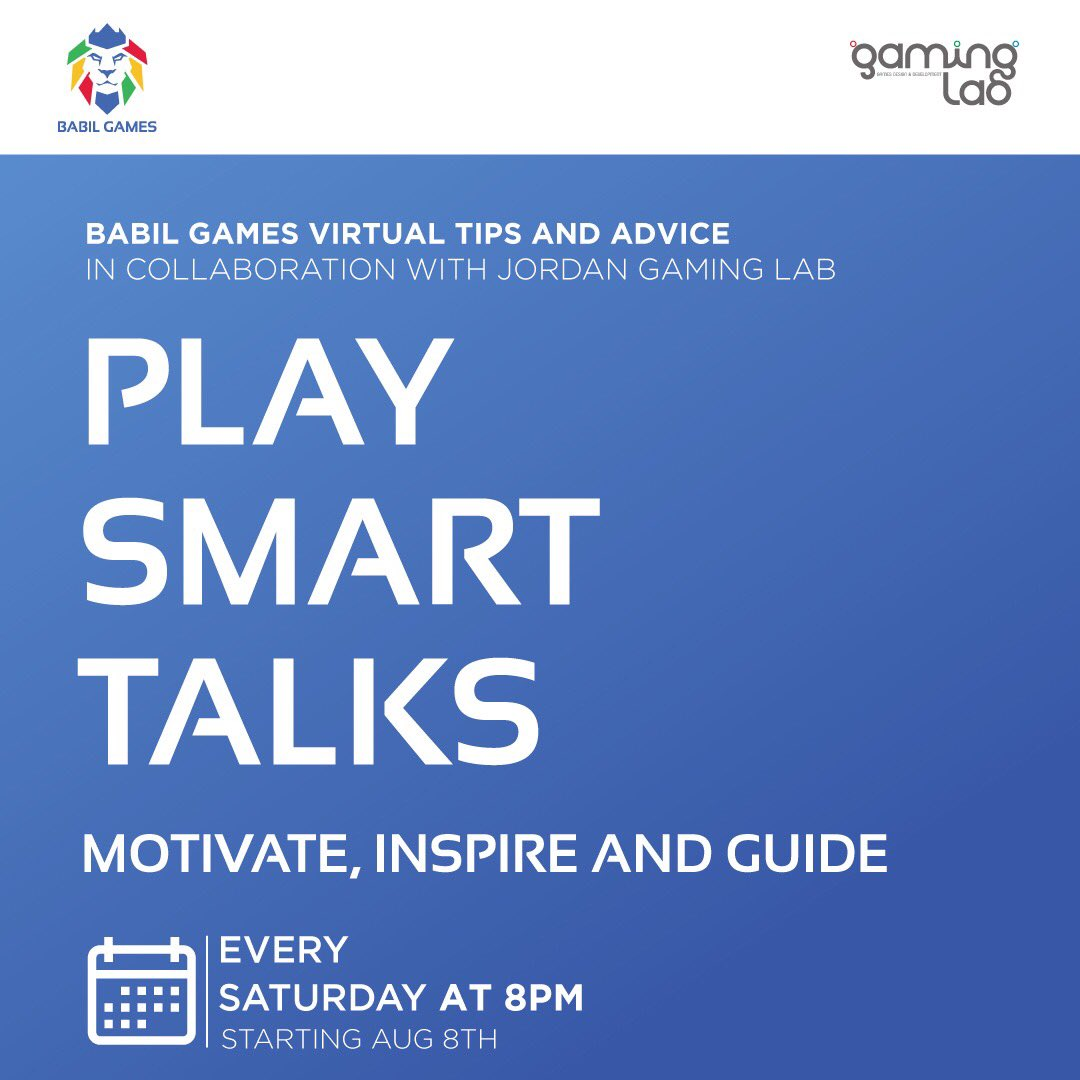 TALK ANNOUNCEMENT!  In collaboration with The Jordan Gaming Lab, @gaminglabjo ,Babil Games will be giving a series of online talks followed by live Q&A sessions from each department head.  Stay tuned for the link! #gamingcommunity #gamingindustry #gamers #gaming #jordan #ammanpic.twitter.com/Yr1HVO8Ri6