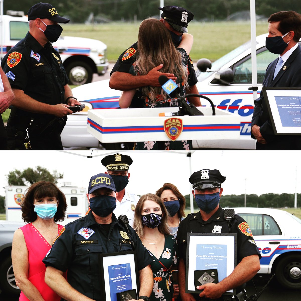 #ThankfulThursday moment as #LongIsland Resident Angie Tempio, who received a life-saving heart transplant 1 year ago, joined @LiveOnNewYork to reunite with the officers who helped save her life when they assisted in bringing her to the hospital #organdonation #giftoflifepic.twitter.com/zSESh8VOMa