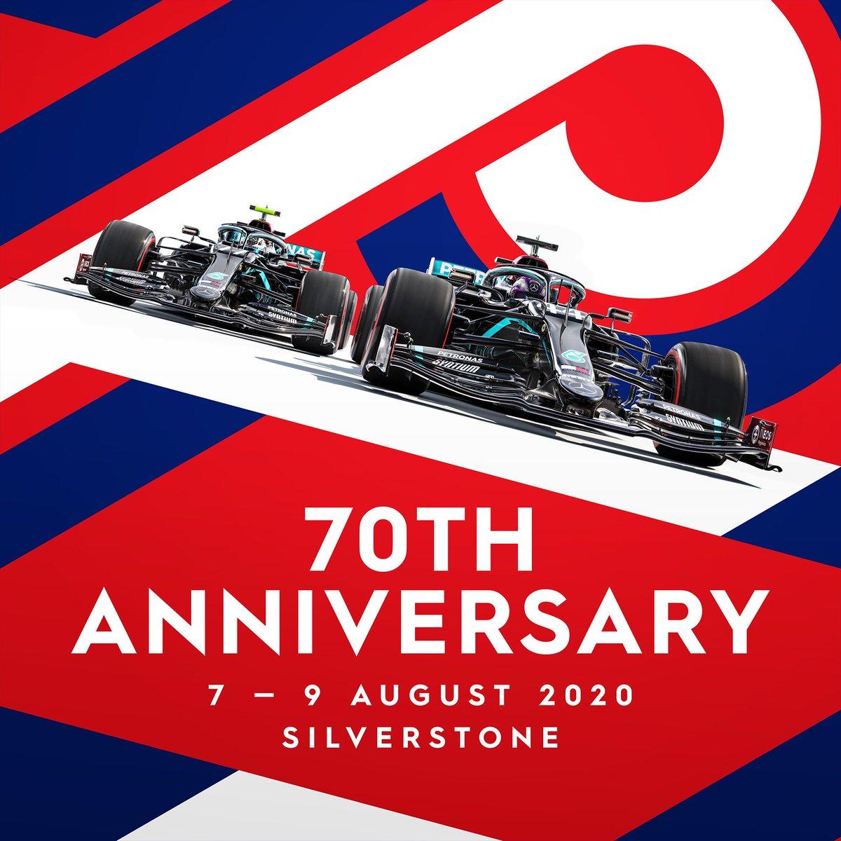 Póster de Mercedes para el #F170 aniversario #f1 #f12020 #BritishGP https://t.co/9Sx6ucxN9H