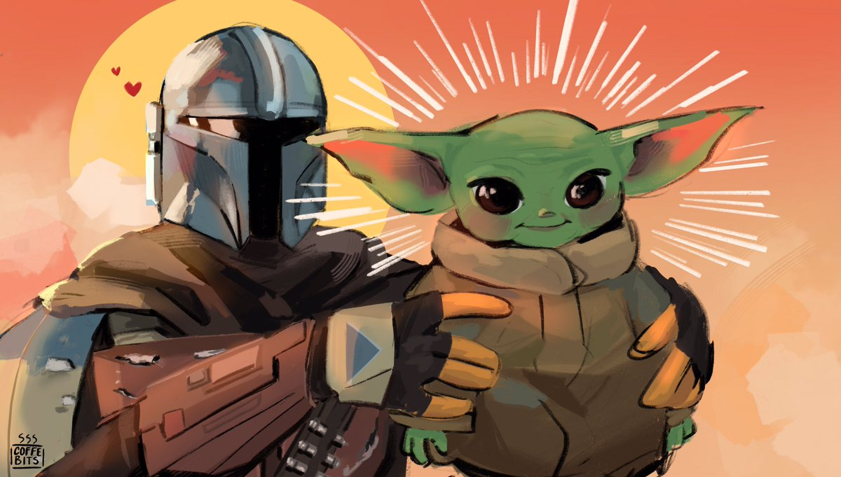 Have the babies to start the account 😌💖, also Idk how Twitter works ✋😔but the quality is totally worth it 👁👄👁👌💖#StarWars #TheMandalorian #fanart #babyyoda