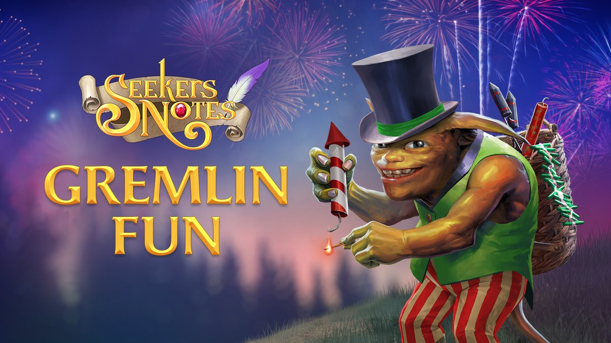 The beautiful firework festival has just begun in #Darkwood! Collect Rockets in the Treasure Box, compete with other players for top spots, & get wonderful prizes! Remember, Rockets are only counted if you successfully complete a level.  Take part in the Gremlin Fun #event!  pic.twitter.com/F1o4FzTAjc