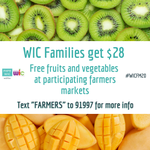 Image for the Tweet beginning: WIC's annual Farmers Market Nutrition