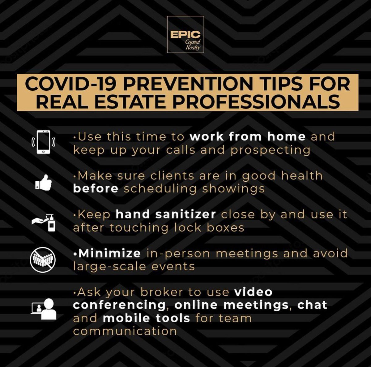For those who are healthy, safe, and able to continue to work, use these preventive measures to keep your hustle going during the #coronavirus crisis.  #realestate #investment #investors #miami #buy #sell #shortsale #foreclosure #luxlife #luxury  #highend #luxurliving #luxlivingpic.twitter.com/TpAvsAzgxi