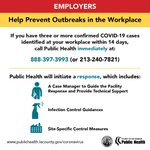 Image for the Tweet beginning: Employers: You can help prevent