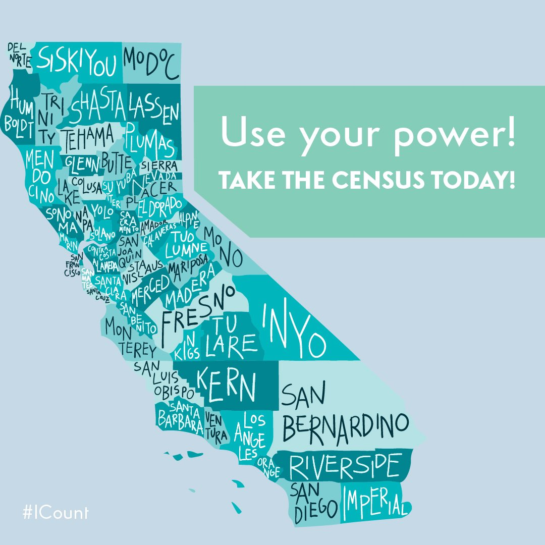 CALIFORNIA!❤️ Make sure you're counted in the #2020Census! Every Californian needs to be counted so we can help claim funding for our communities & make sure they get the support & resources they need🙏🏽 Go to my2020census.gov or call (844) 330-2020. #BeCounted🙌🏽 @CACensus