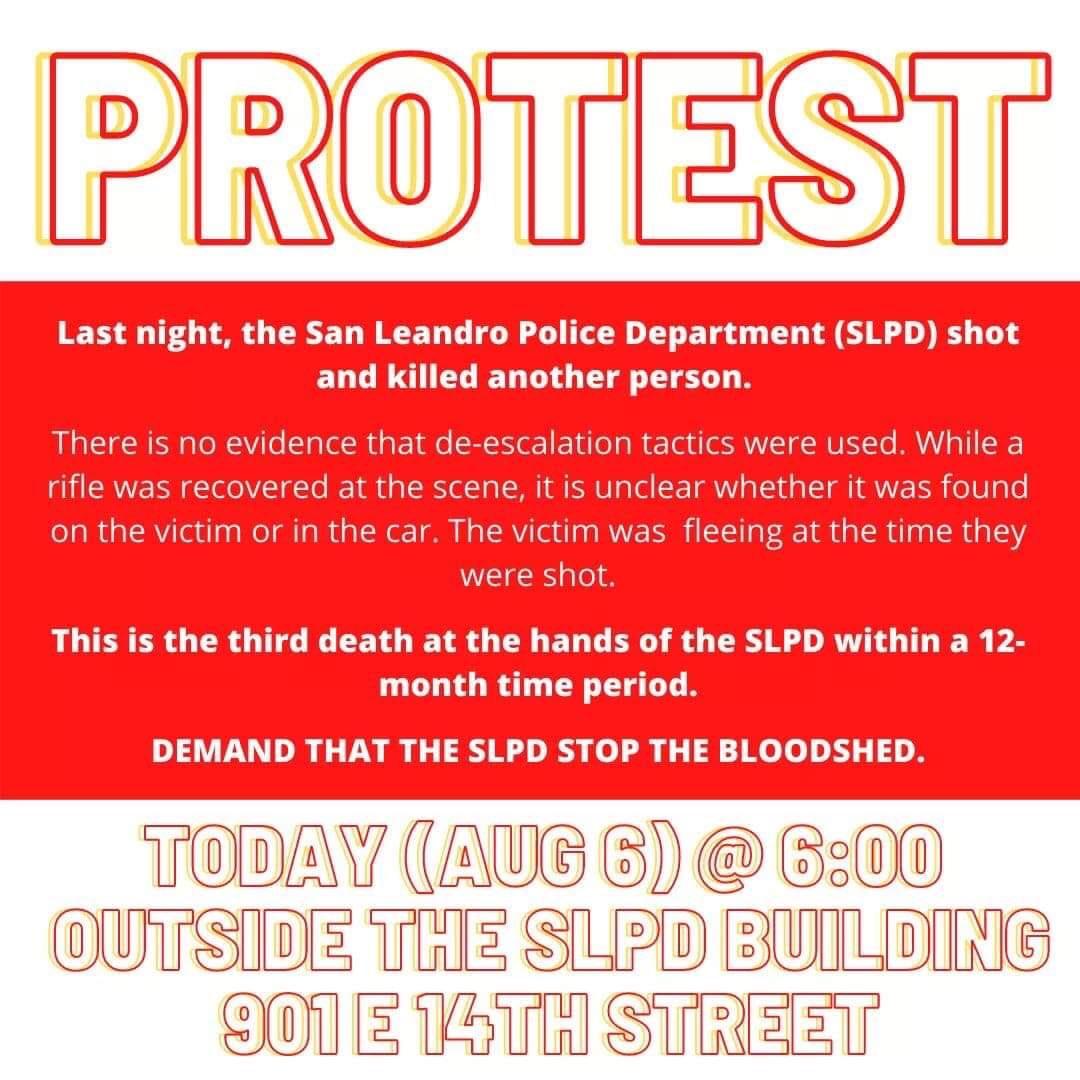 Protest San Leandro Police Killing