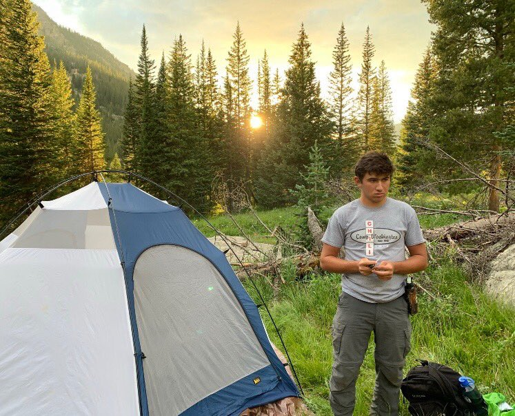 How appropriate...camping in your Camp t-shirt! Show us where your Camp gear has been! #Colorado pic.twitter.com/D8chIV0fqs