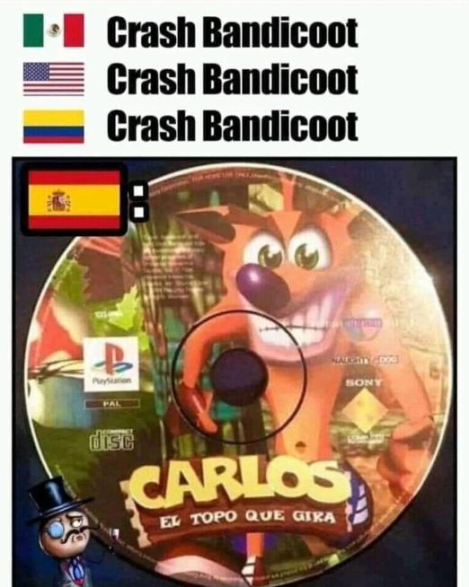 RT @_katt_mo: Crash Bandicoot en España https://t.co/Skhbdy3DXF