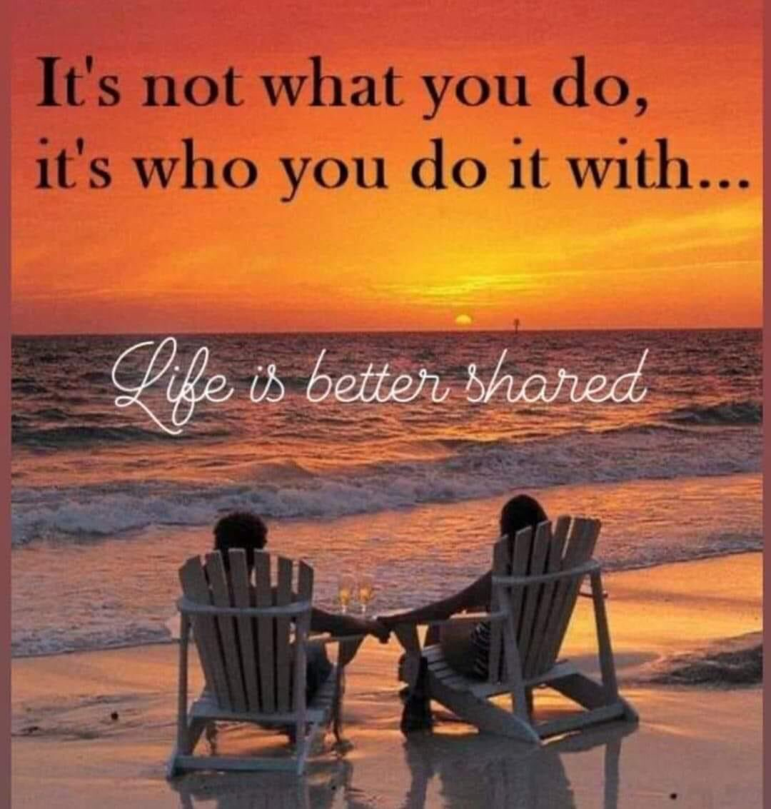 #LifeLessons #WordsOfWisdom #Share #life with someone #special !!!! #couplegoals #BetterTogether #believeinlove ♥️ #LoveIsEssential #lifeisgood #LIG #positive #lifestyle #commitment 👉🏽 #love! #thursdayvibes #FridayFeeling #SaturdayMorning #sundayvibes #MondayMotivaton