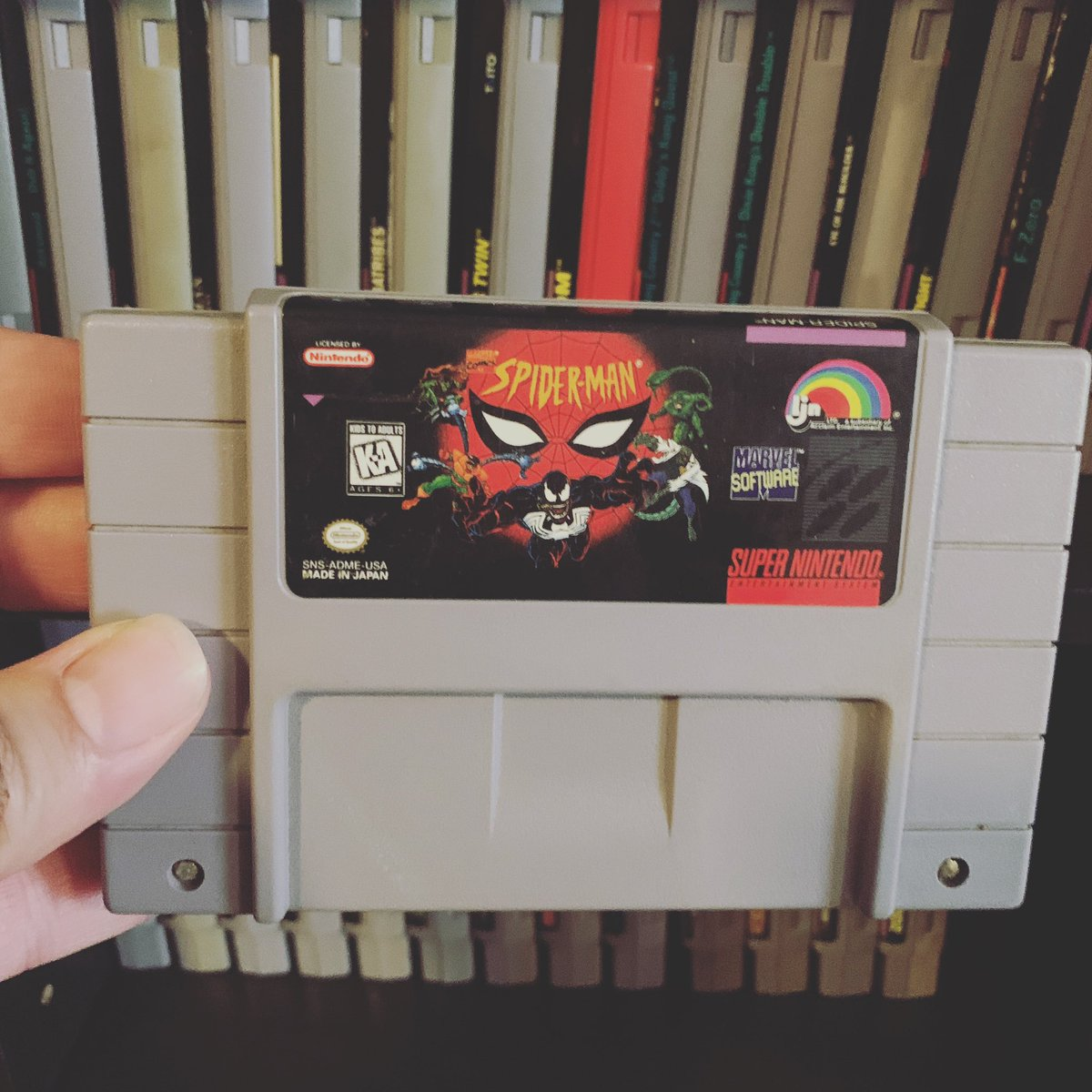 Added to the #snes collection  #supernintendo #nintendo #spiderman #marvel #retrogaming #retrogames #retrogamer #retrocollector #gamecollecting #gamecollection #gaming #gamer #gamers #gamingcommunity #oldschoolgames #oldschoolgamer #oldschoolgaming #classicgaming #videogamespic.twitter.com/UdLVSMKebq