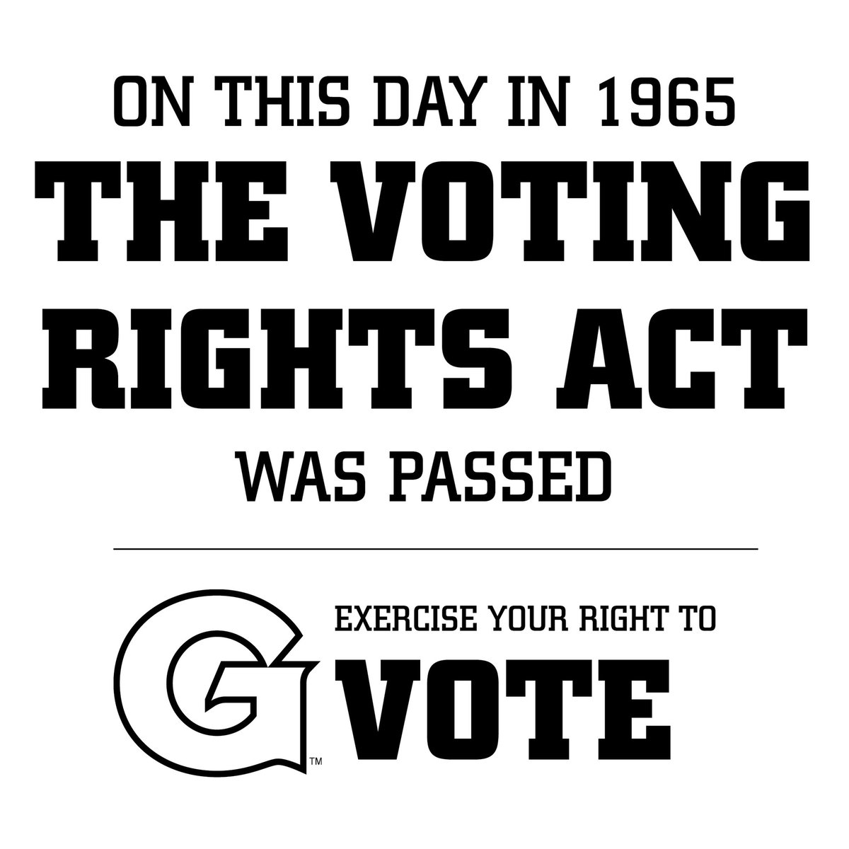 It's important that we remember those who fought for our voting rights. Exercise your right to vote. #HoyaSaxa #VotingRights