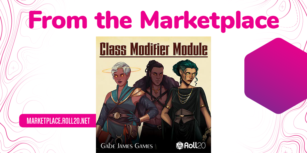 New on the marketplace!   @GabeJamesGames' CLASS MODIFIER MODULE for 5th Edition, seen previously on Roll20 streams @indoorrecesss and Lost Mine of Phandelver, offers an alternative to racial bonuses with narrative-driven character creation!   Get it here: https://t.co/pUjUOZsS3D https://t.co/zblC7ubpY2