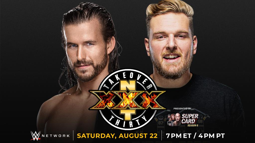 It's on.  @AdamColePro will battle @PatMcAfeeShow on August 22 at #NXTTakeOver: XXX!  Full details: https://t.co/VgJccrI81v https://t.co/9yHP5KlJll
