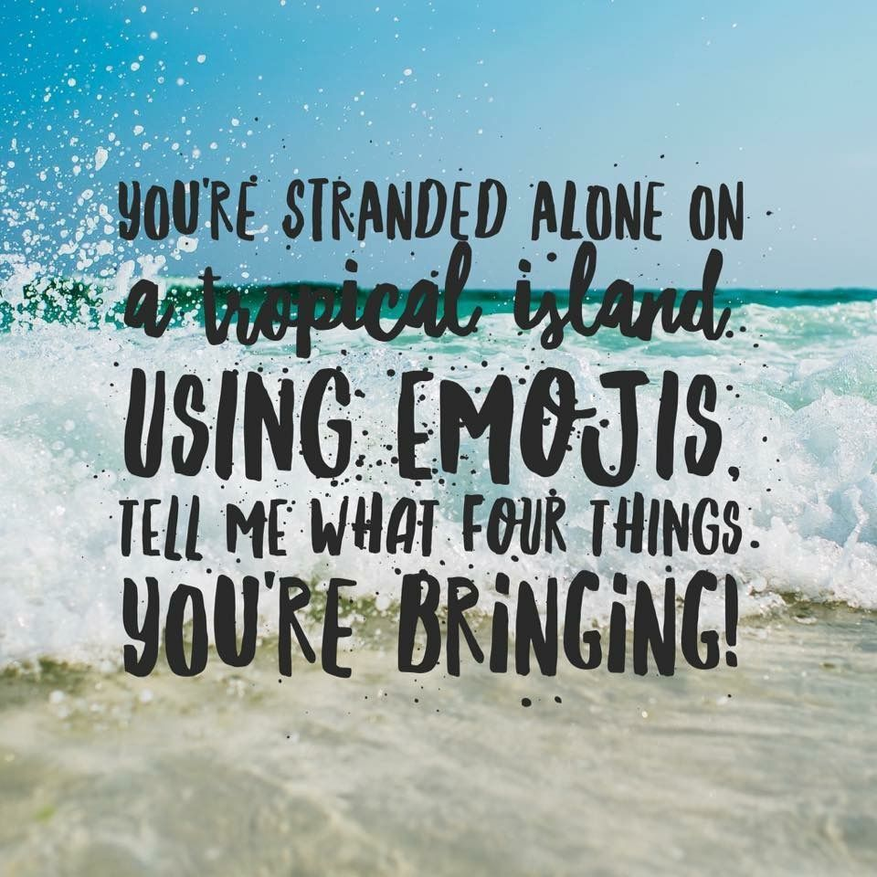 Being stranded on an island sounds like a dream. But what items are you bringing?!?  #choosewisely #strandedisland #allalone #thewoodlandsmoms #conroesalon #hairhtx #houstonsalons #houstontx #houstonmoms #conroemoms #tropicalisland #thewoodlandssalon #choiceschoices #conroetx pic.twitter.com/PhBNt60a4g