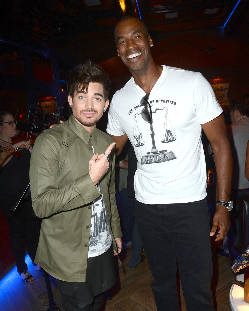August 7, 2013  Hooray Henry's Opening - Adam Lambert, 31, came along too and posed inside with NBA star Jason Collins, 34, the first male professional major sport star to come out publicly as gay. https://twitter.com/OoftaBop/status/1291496424761327618…pic.twitter.com/31meSaYI9I