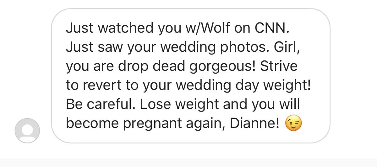 I just *love* being a woman on TV. 🙄 (don't send people messages like this)
