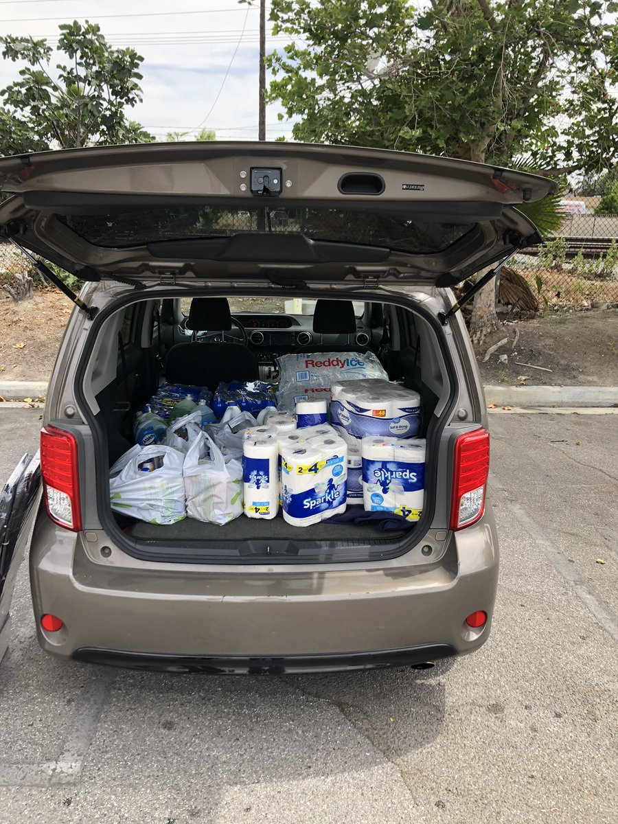 Bleach, water, bar soap, deodorant, bug repellant, sun screen, peroxide, ice, deodorant, toothbrushes, toothpaste, toilet paper, paper towels, organic food from Lassens, masks, gloves, kombuchas https://t.co/offpizditj