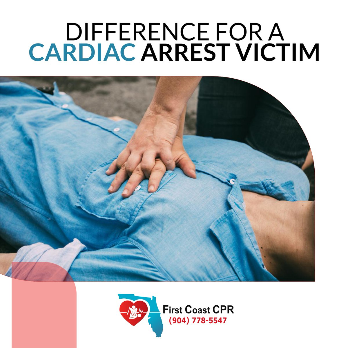 Becoming CPR-certified can make an immediate difference for a cardiac arrest victim and his or her family. -- http://firstcoastcpr.com  #firstcoastcpr #cpr #firstaid #firstaidtraining #herotrainingcenter #BLS #AED #AHA #cprcetification #trainingcenter #nurse #nursing #nurselifepic.twitter.com/M9FSd9YN0X