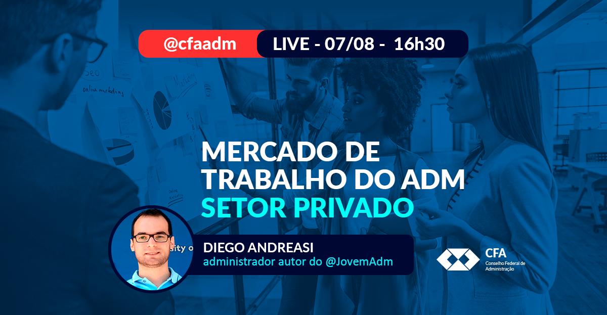 ☑Na live, a jornalista do CFA, Elisa Ventura, conversa com o administrador e criador do perfil @JovemAdm, Diego Andreasi. Não perca!  📲AMANHÃ, às 16h30, no Instagram @cfaadm.   #CFA #SouADM #LIVE #SetorPrivado #Administração #MercadodeTrabalho https://t.co/D5llNwEbZG