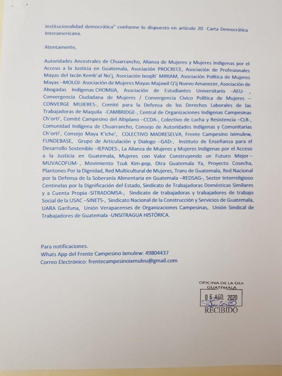 test Twitter Media - Organizaciones civiles informan que nuevamente envían una carta al secretario de la OEA, urgiendo la activación de la carta democrática, por la elección de Cortes y la intención del Congreso de desaforar al PDH. https://t.co/3v8tDLmEWK