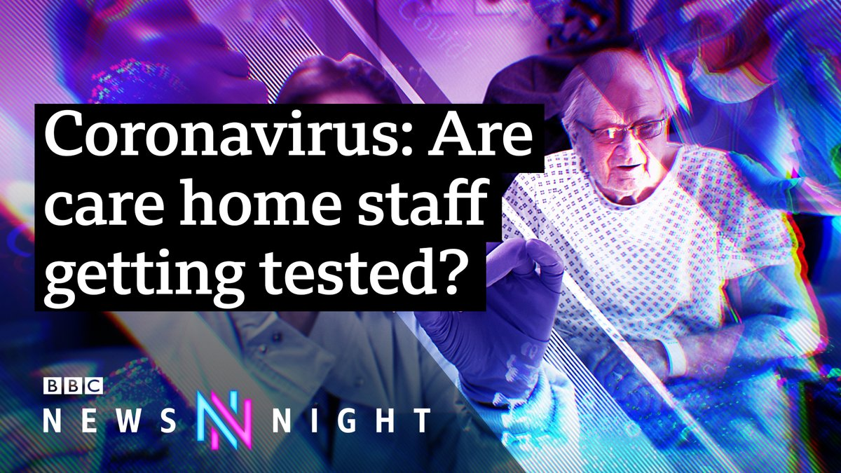 As part of the government's new social care testing strategy, from July 3 staff and residents in care homes are to receive regular coronavirus tests. Are staff now regularly tested? Policy Editor Lewis Goodall reports 👉bbc.in/33FMZEt #Newsnight