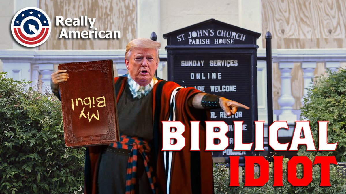 Trump said Biden and Dems hates God and the Bible. We need to show that this is false and if anything, Jesus was a liberal, and Democrats respects people of every faith like the constitution dictates. Besides most importantly, Trump is a #Biblicalidiot.