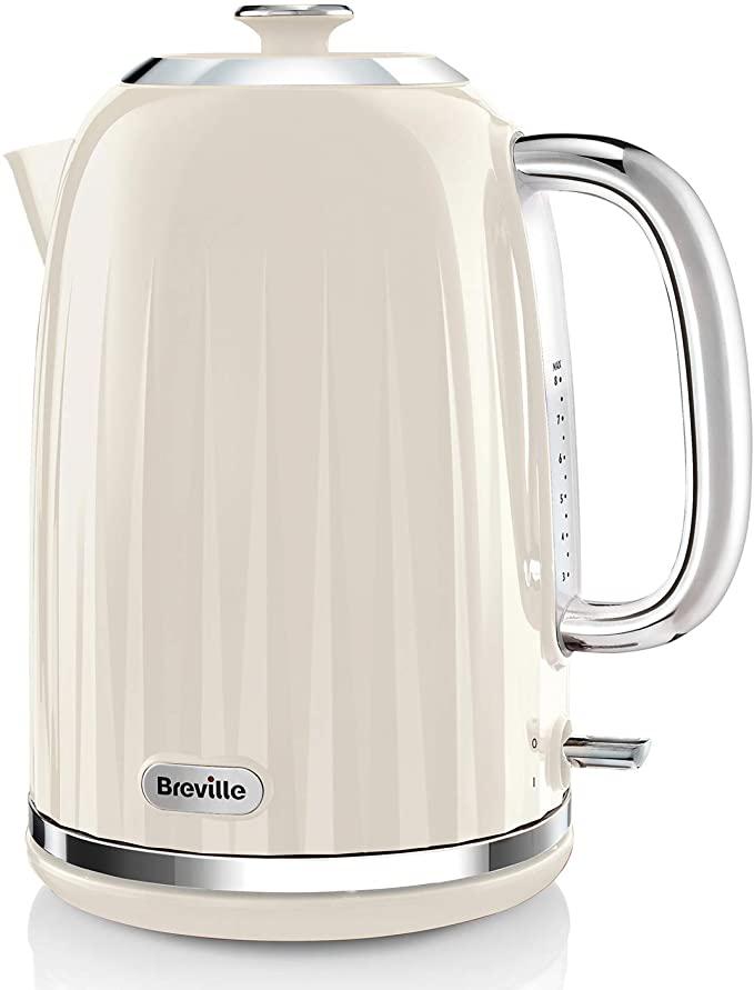 Breville Impressions Electric Kettle, 1.7 Litre, 3 KW Fast Boil, Cream - £24 2