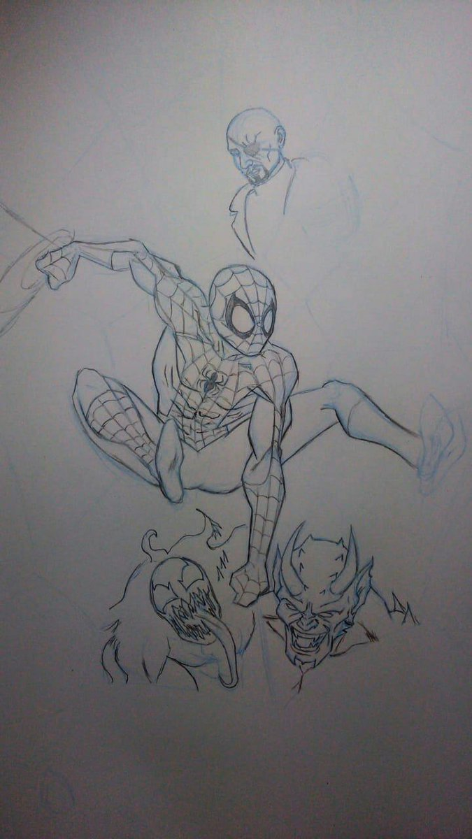 Working a little in the homage for the 20th years of Ultimate Spider-Man @BRIANMBENDIS  #SpiderMan #SpiderManDay #comics #Marvel https://t.co/KFJxK8cHPS https://t.co/jECpdX5CC8