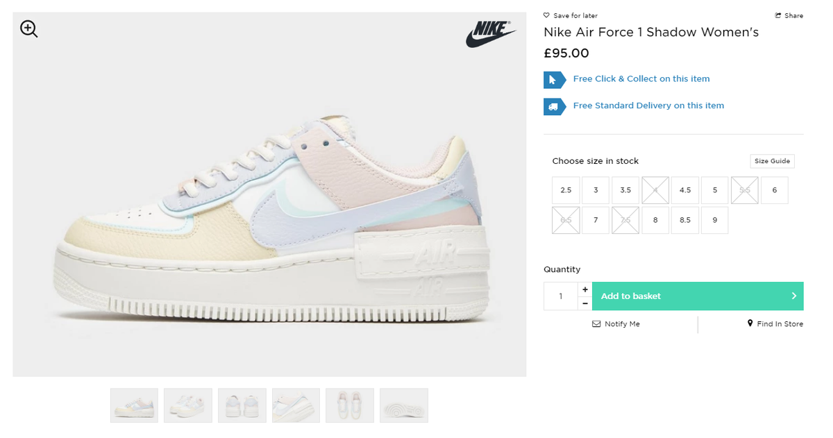 Sneaker Alerts By Frshsneaks On Twitter Restock Nike Air Force 1 Shadow Pastel Via Jd Sports Uk Https T Co Avsbrovd2q Worldwide Shipping Designed with sustainability in mind, the nike air vapormax 2020 flyknit is constructed with at least 50% recycled content by weight. sneaker alerts by frshsneaks on twitter