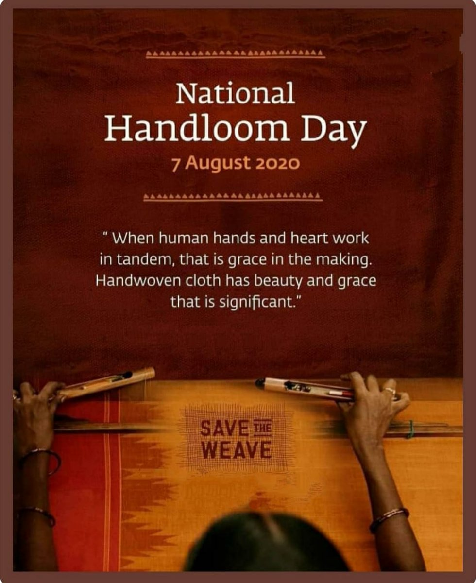 Happy national handloom day #SavetheWeave #nationalhandloom #weaver #Support #indiantradtional #indianculture #India @SonuSood @Amazingdeals360 @Techglares @1010_arjunpic.twitter.com/Qh56QLyTZO