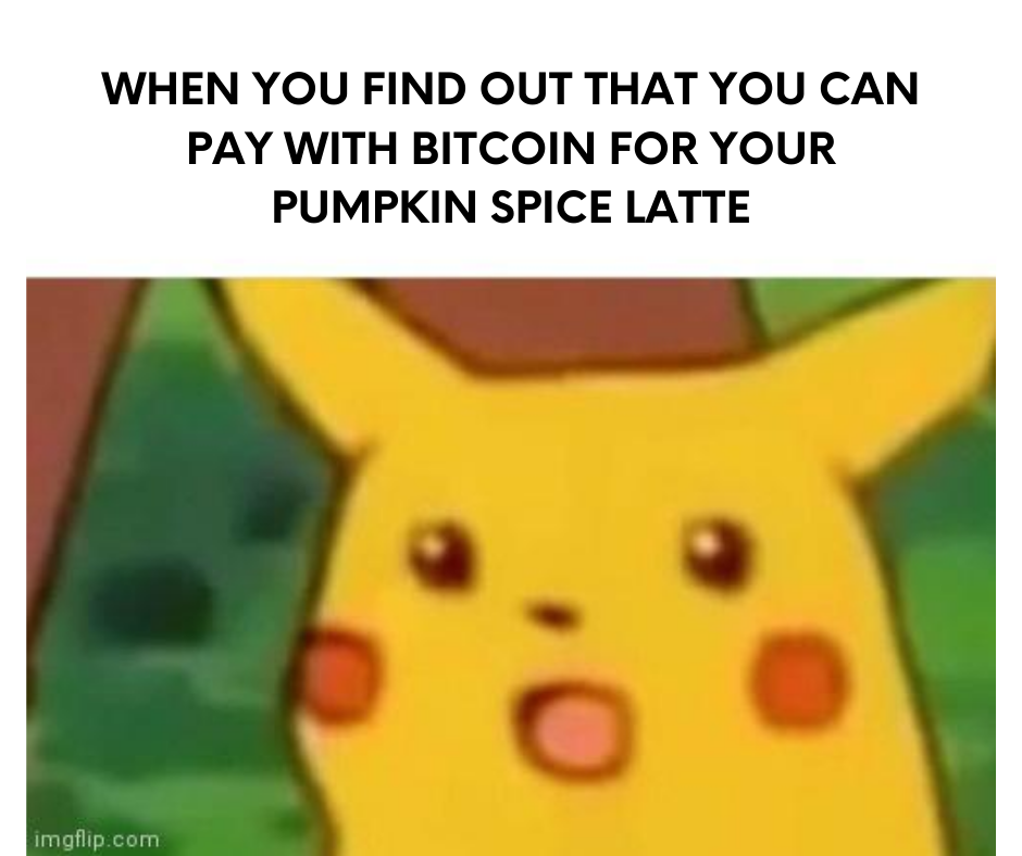 What do you mean, I can pay at Starbucks with bitcoin? #cryptomemes #cryptocurrencypic.twitter.com/Qrt3KX8Dya
