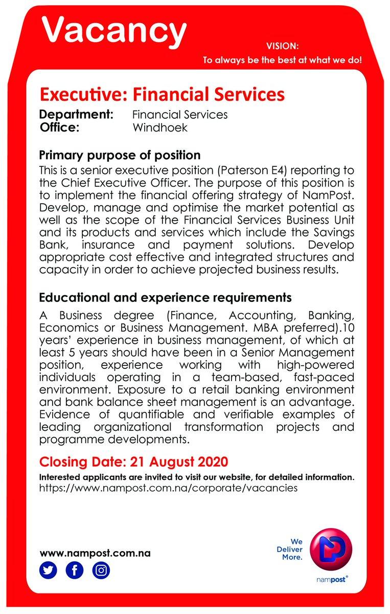 Executive Position https://t.co/xsl8rOZGXD