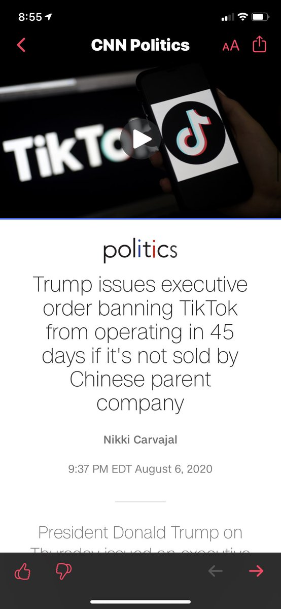 Oh man oh man #TikTok #RIPTikTok IS THIS THE END...... pic.twitter.com/SsdszFI9Lz