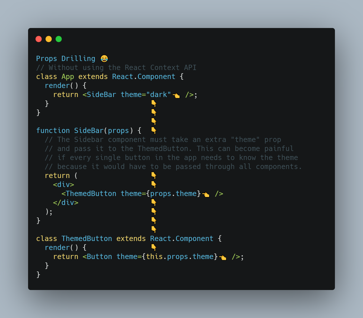 React Context API in   picture     #100DaysOfCode pic.twitter.com/RXMBKSulVB