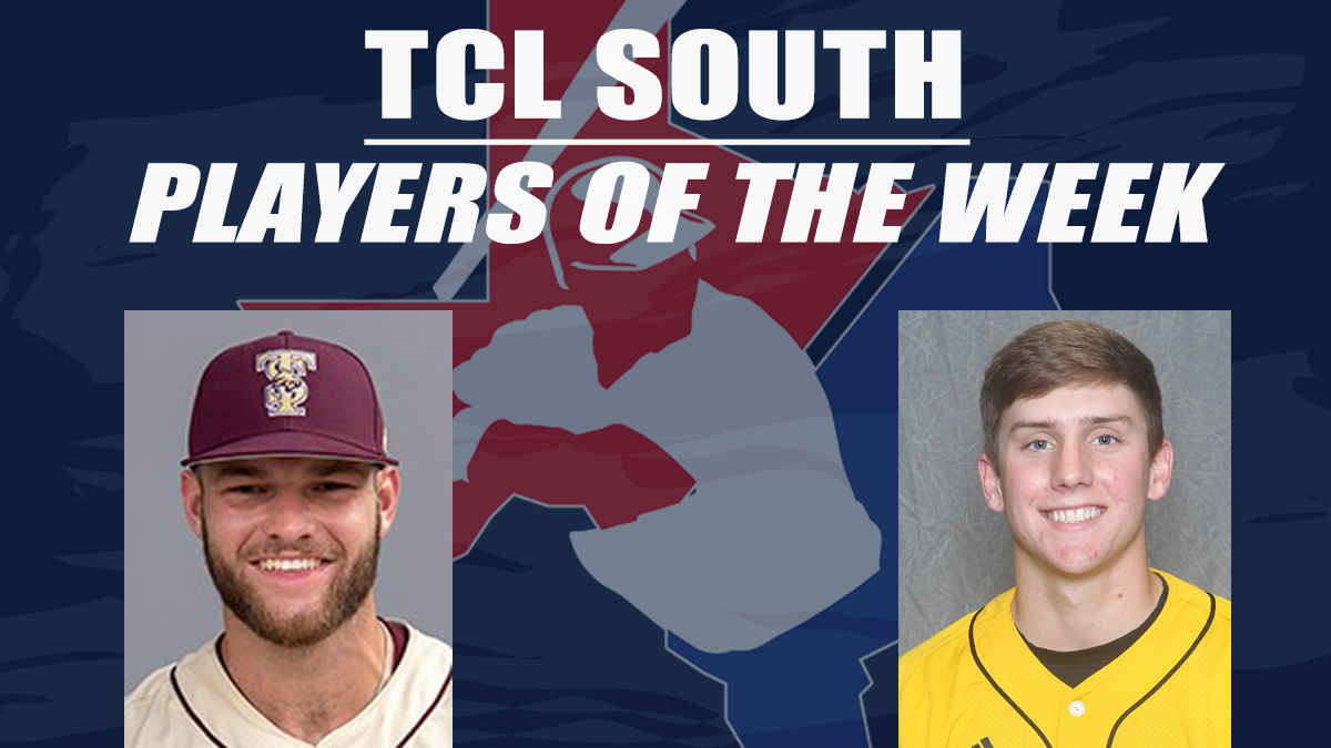 Congrats to @bv_bombers & the @CaneCuttersBB for nabbing last weeks Player awards for the South Division! 1st Baseman @wesley_faison from @TxStateBaseball & Pitcher @ChandlerBest from @SouthernMissBSB In case you missed it, Read about it here--> bit.ly/TCLPOW5-South