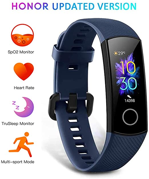 HONOR Band 5 Fitness Trackers Activity Spo2 Waterproof 50M - £22.58 2