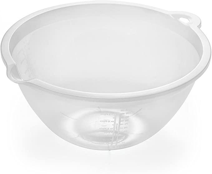 Addis 4lt mixing bowl plastic transparent - £1.49 2