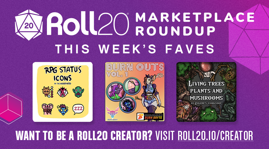 Want to know what's new on the marketplace this week? Find out in the latest Roll20 Marketplace roundup: https://t.co/0EbYmtcSxe https://t.co/nRckzlbl7o